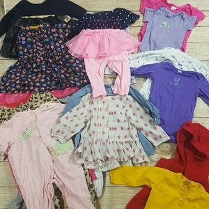Large 22 Piece Lot Baby Girls Clothes 6 Months